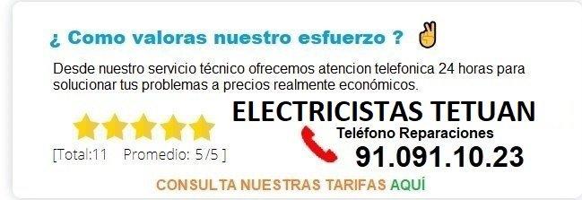 electricistas tetuan precios